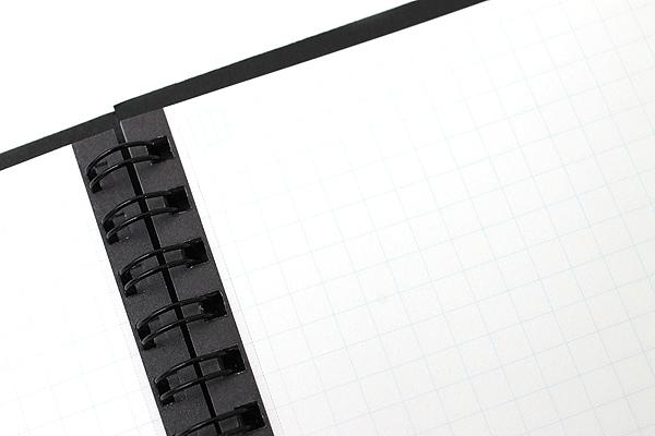 "Kokuyo CamiApp Twin Ring Notebook - A6 (4.1"" X 5.8"") - 5 mm Graph - 50 Sheets - Bundle of 5 - KOKUYO SU-TCA92S BUNDLE"