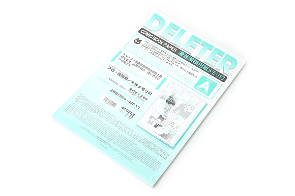 Deleter Comic Paper - B4 - with Scale - 135 kg - 40 Sheets - DELETER 201-1034