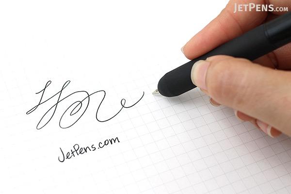 LunaTik Polymer Touch Pen - 0.7 mm Roller Ball Pen + Stylus - Black Body - LUNATIK PPBLK-025