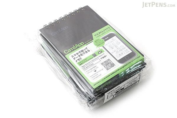 "Kokuyo CamiApp Twin Ring Memo Notepad - A7 (4.1"" X 2.9"") - 5 mm Graph - 50 Sheets - Bundle of 5 - KOKUYO ME-CA90S BUNDLE"