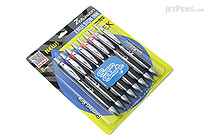 Zebra Z-Mulsion EX Emulsion Ink Pen - 1.0 mm - 8 Color Set - ZEBRA 34208