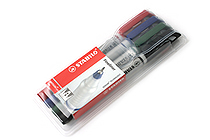Stabilo Sensor Fineliner Marker Pen - Fine Point - 4 Color Set - Wallet - STABILO 189-4