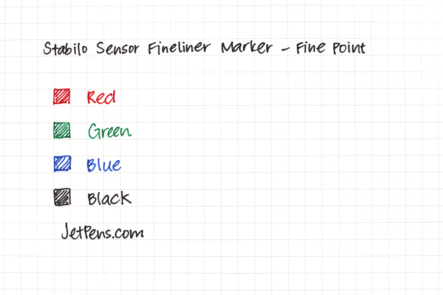 Stabilo Sensor Fineliner Marker Pen - Fine Point - Red - STABILO 189-40