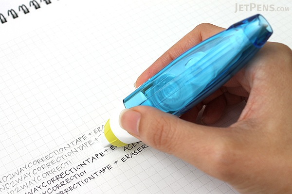 Tombow Mono 2way Correction Tape + Eraser - 5 mm X 6 m - Blue Body - TOMBOW CT-PEX5C40