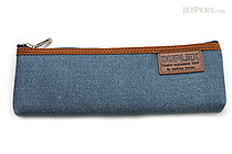 Kutsuwa Duplex Denim Pencil Case - Blue - KUTSUWA AK020