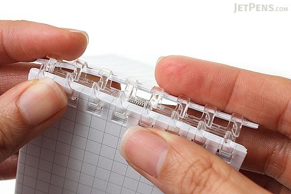 """Lihit Lab Aqua Drops Twist Ring Memo Notepad - 2.8"""" X 4.7"""" - 5 mm Graph - 40 Sheets - White - LIHIT LAB N-1661-0"""