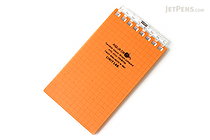 "Lihit Lab Aqua Drops Twist Ring Memo Notepad - 2.8"" X 4.7"" - 5 mm Graph - 40 Sheets - Orange - LIHIT LAB N-1661-4"