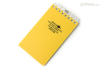 "Lihit Lab Aqua Drops Twist Ring Memo Notepad - 2.8"" X 4.7"" - 5 mm Graph - 40 Sheets - Yellow - LIHIT LAB N-1661-5"