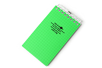 "Lihit Lab Aqua Drops Twist Ring Memo Notepad - 2.8"" X 4.7"" - 5 mm Graph - 40 Sheets - Yellow Green - LIHIT LAB N-1661-6"