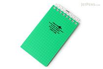"Lihit Lab Aqua Drops Twist Ring Memo Notepad - 2.8"" X 4.7"" - 5 mm Graph - 40 Sheets - Green - LIHIT LAB N-1661-7"