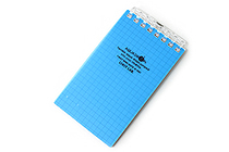 "Lihit Lab Aqua Drops Twist Ring Memo Notepad - 2.8"" X 4.7"" - 5 mm Graph - 40 Sheets - Blue - LIHIT LAB N-1661-8"