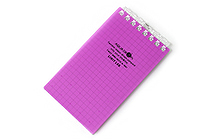 "Lihit Lab Aqua Drops Twist Ring Memo Notepad - 2.8"" X 4.7"" - 5 mm Graph - 40 Sheets - Fuji Purple - LIHIT LAB N-1661-10"