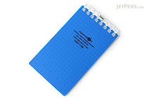 "Lihit Lab Aqua Drops Twist Ring Memo Notepad - 2.8"" X 4.7"" - 5 mm Graph - 40 Sheets - Indigo Blue - LIHIT LAB N-1661-11"