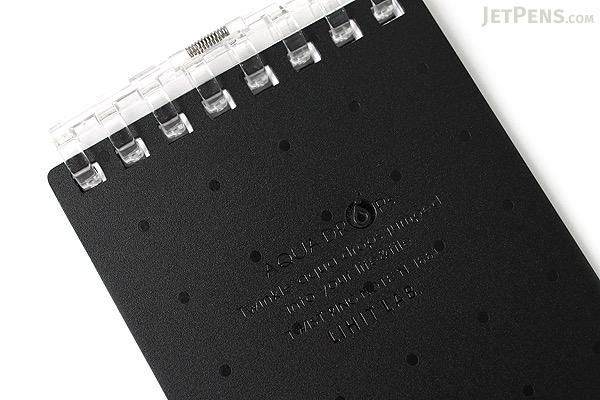 "Lihit Lab Aqua Drops Twist Ring Memo Notepad - 2.8"" X 4.7"" - 5 mm Graph - 40 Sheets - Black - LIHIT LAB N-1661-24"