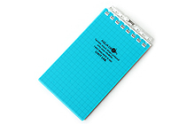 "Lihit Lab Aqua Drops Twist Ring Memo Notepad - 2.8"" X 4.7"" - 5 mm Graph - 40 Sheets - Blue Green - LIHIT LAB N-1661-28"