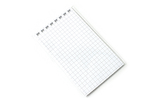 "Lihit Lab Aqua Drops Twist Ring Memo Notepad Loose Leaf Paper - 2.8"" X 4.7"" - 5 mm Graph - 40 sheets - LIHIT LAB N-1660S"