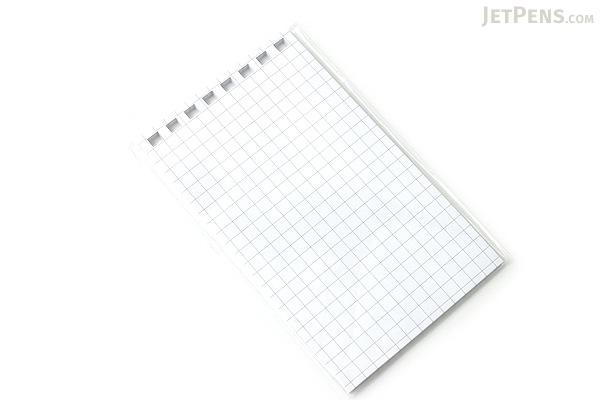 "Lihit Lab Aqua Drops Twist Ring Memo Notepad Loose Leaf Paper - 2.8"" X 4.7"" - 5 mm Graph - 40 sheets - LIHIT LAB N-1660S"