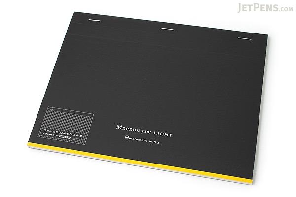 "Maruman Mnemosyne Light Notepad - A5 (5.8"" X 8.3"") - 5 mm X 5 mm Graph - 40 Sheets - MARUMAN N172"