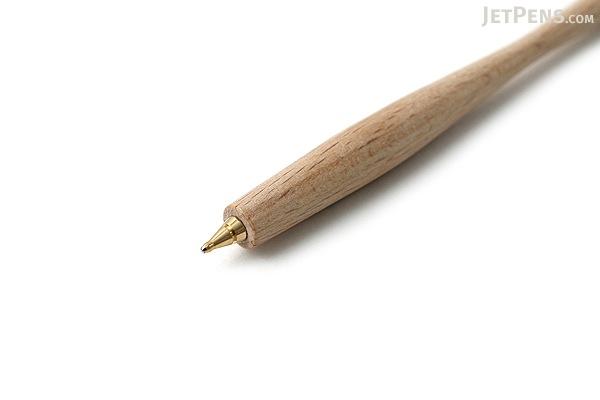 E+M Pen Shaper Ballpoint Pen - Medium Point - Blue Ink - Beech Natural Body - E+M FSC2429-0