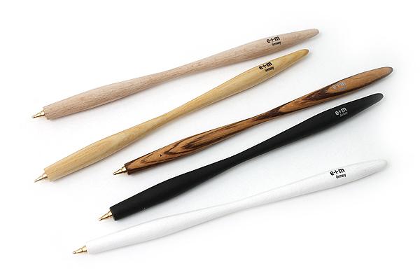 E+M Pen Shaper Ballpoint Pen - Medium Point - Blue Ink - Ashwood Body - E+M FSC2429-47