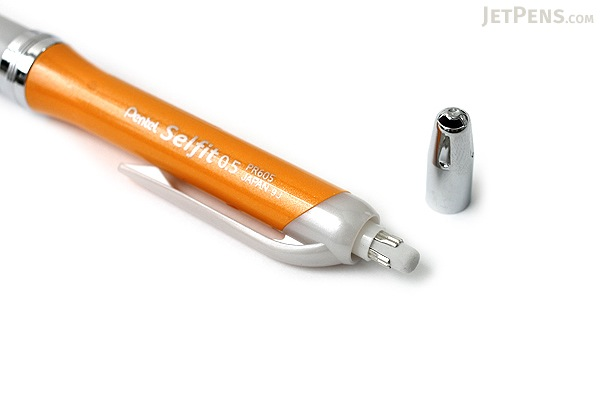 Pentel Selfit Mechanical Pencil - 0.5 mm - Vivid Pearl Orange Body - PENTEL XPR605-VF