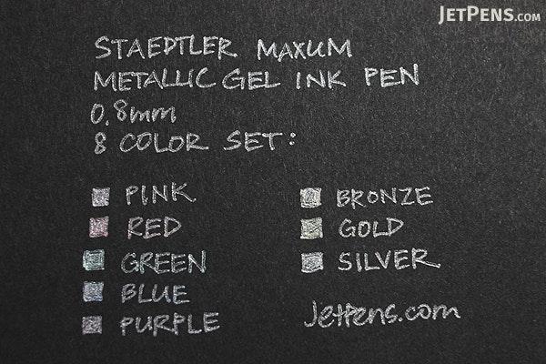 Staedtler Maxum Metallic Gel Pen - 0.8 mm - 8 Color Set - STAEDTLER 9824G BK8