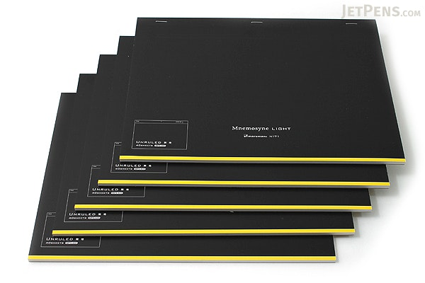 "Maruman Mnemosyne Light Notebook - A4 (8.3"" X 11.7"") - Unruled - 40 Sheets - Bundle of 5 - MARUMAN N171 BUNDLE"