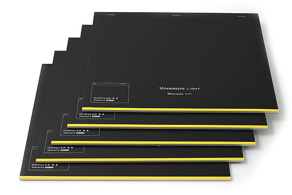 "Maruman Mnemosyne Light Notebook - A4 (8.3"" X 11.7"") - Unruled - 40 Sheets - Bundle of 5 - MARUMAN N171 BUNDLE"