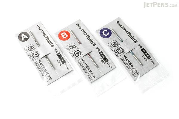 Pentel Super Multi 8 Ballpoint Pen Refill - 0.7 mm - Blue - PENTEL CMB-C
