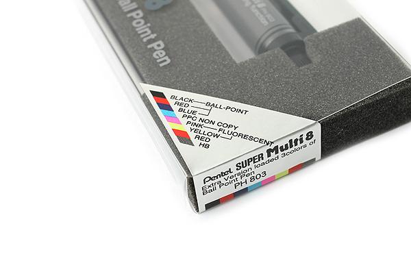 Pentel Super Multi 8 0.7 mm Ballpoint Pen + 2 mm Lead Holder - PENTEL PH803