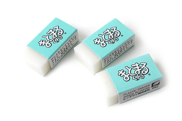 Hinodewashi Matomaru-kun Eraser - Small - Pack of 3 - HINODEWASHI TM-100