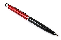 Monteverde Poquito Ballpoint Pen + Stylus - 0.7 mm - Red & Black Body - Black Ink - MONTEVERDE MV10105