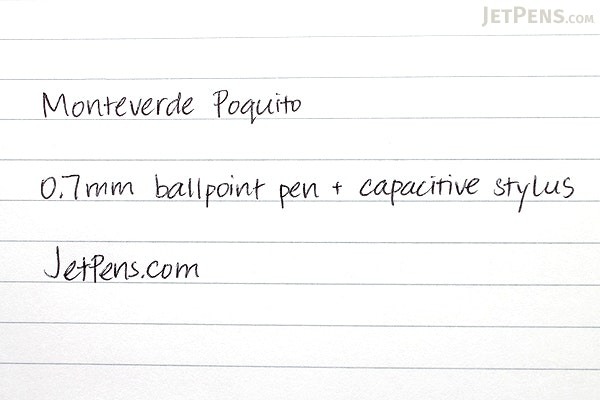 Monteverde Poquito Ballpoint Pen + Stylus - 0.7 mm - Cobalt Blue Body - Black Ink - MONTEVERDE MV10102