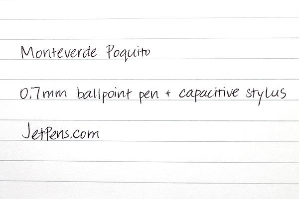 Monteverde Poquito Ballpoint Pen + Stylus - 0.7 mm - Black Body - Black Ink - MONTEVERDE MV10101