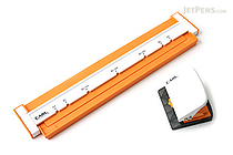Carl Neo Gauge 26-Hole or 30-Hole Punch - Orange - CARL GP-130N-O
