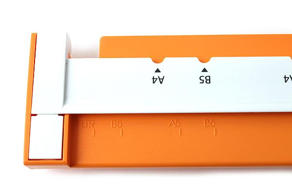 Carl Neo Gauge 26-Hole or 30-Hole Punch - Orange - CARL GP-130N-O