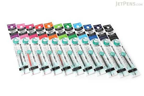 Zebra EK-0.5 Surari Emulsion Ink Multi Pen Refill - 0.5 mm - Black - ZEBRA REK5A-BK