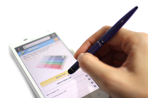 Monteverde Poquito Ballpoint Pen + Stylus - 0.7 mm - Purple Body - Black Ink - MONTEVERDE MV10108