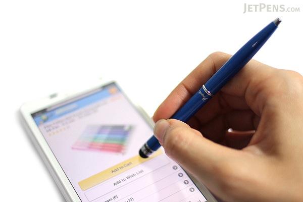Monteverde Poquito Ballpoint Pen + Stylus - 0.7 mm - Cobalt Blue Body - Black Ink - MONTEVERDE MV10102