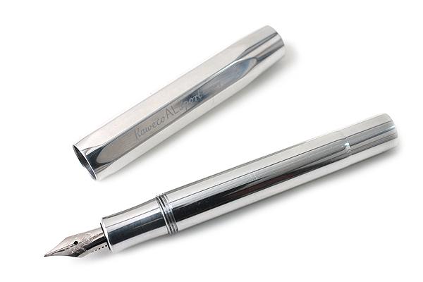 Kaweco AL Sport Fountain Pen - Fine Nib - Raw Aluminum Body - KAWECO 10000628