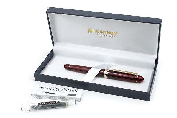 Platinum 3776 Century Fountain Pen - Fine Nib - Bourgogne (Burgundy) Body - PLATINUM PNB-10000 71-F