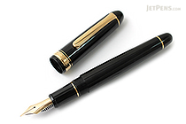 Platinum 3776 Century Fountain Pen - Black - Fine Nib - PLATINUM PNB-10000 1-F