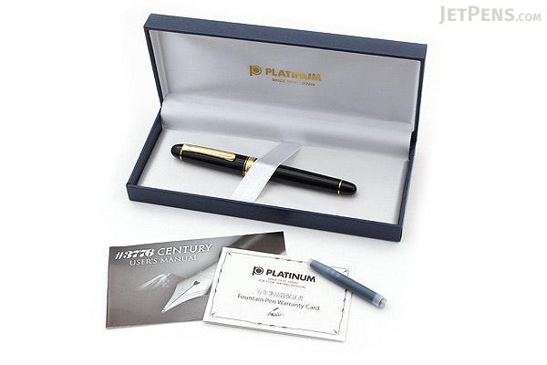 Platinum 3776 Century Fountain Pen - Black - Extra Fine Nib - PLATINUM PNB-10000 1-EF
