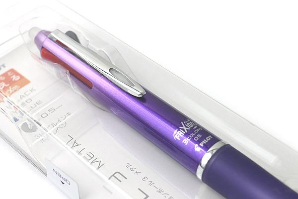 Pilot FriXion Ball 3 Metal 3 Color Gel Ink Multi Pen - Gradation Violet - PILOT LKFB150EF-GRV