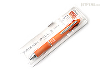 Pilot FriXion Ball 3 Metal 3 Color Gel Ink Multi Pen - Orange - PILOT LKFB150EF-O
