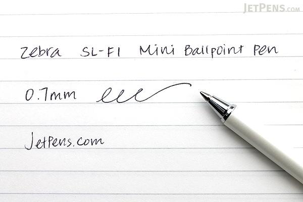 Zebra SL-F1 Mini Ballpoint Pen - 0.7 mm - White Body - Black Ink - ZEBRA BA55-W