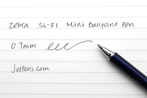 Zebra SL-F1 Mini Ballpoint Pen - 0.7 mm - Navy Body - Black Ink - ZEBRA BA55-NV