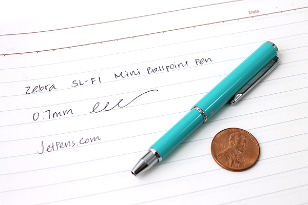 Zebra SL-F1 Mini Ballpoint Pen - 0.7 mm - Mint Green Body - Black Ink - ZEBRA BA55-MTG