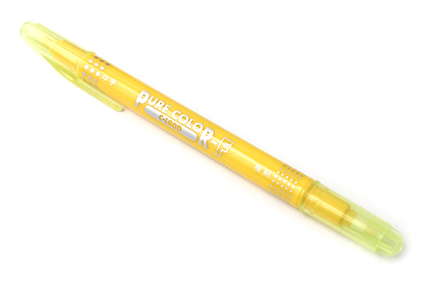 Uni Mitsubishi Pure Color-F Double-Sided Sign Pen - 0.8 mm + 0.4 mm - Yellow - UNI PW101TPC.2
