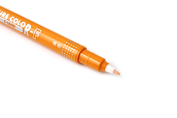 Uni Mitsubishi Pure Color-F Double-Sided Sign Pen - 0.8 mm + 0.4 mm - Golden Yellow - UNI PW101TPC.3